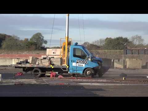Marshalls 35/30 Lift Assist Bollard Crash Test