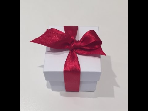How to make a 2inch Square Gift Box