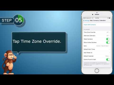 choose your default calendar and time zone Apple  iPhone  smart phones user guide support