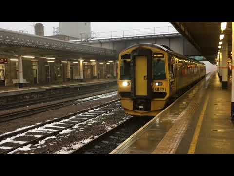 Northern Rail X  Scot Rail 158871 At Sheffield From Leeds To Nottingham