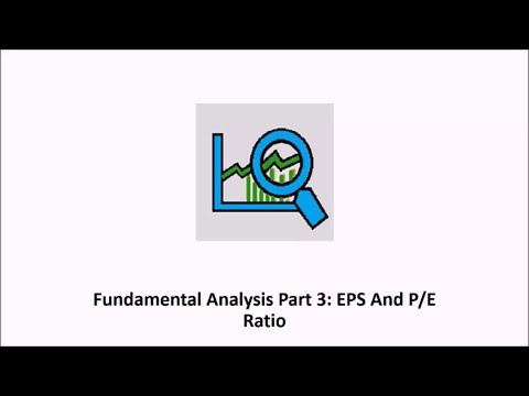 Fundamental Analysis Part 3 - Earning Per Share And P/E Ratio