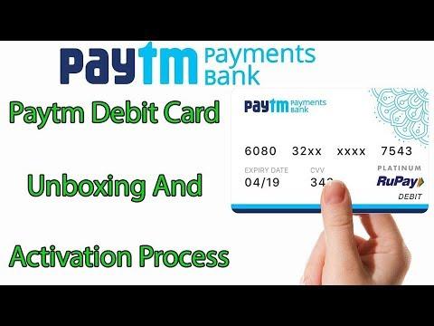 Paytm Atm card || Paytm Debit Card unboxing & Activation