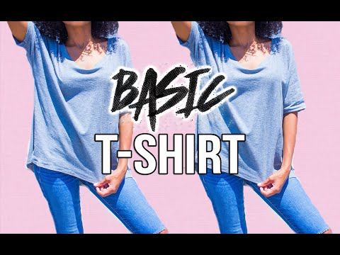 DIY Clothes! DIY How To Make A Basic T-Shirt! How To Make Your Own Clothes!