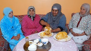 لمونيز و مطارنون😂 سحور ليلة النصف من رمضان بالدجاج معمر بطريقة لالة دريسية