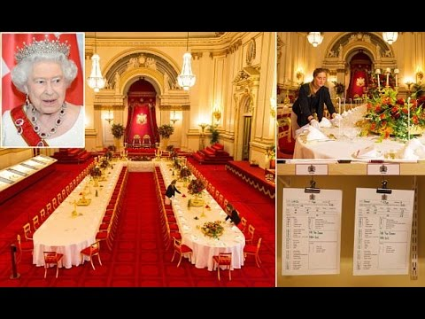 Amazing! Buckingham Palace 1,700 cutlery,1,104 glasses and 175-foot dining table New exhibition