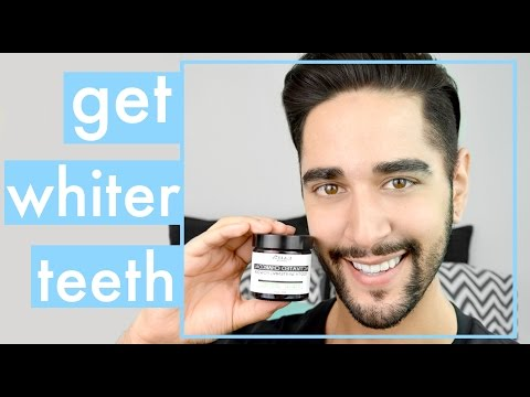 How To Get White Teeth - Teeth Whitening With Activated Charcoal ✖ James Welsh