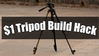 $1 Tripod Build Hack  easy two step process