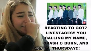 GOT7 (갓세븐) YOU CALLING MY NAME, THURSDAY, AND CRASH & BURN COMEBACK STAGES REACTION!