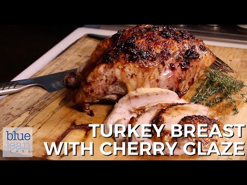 Air-Fried Turkey Breast Cherry Glaze