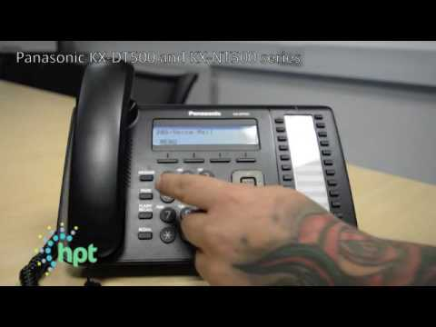 How to record personal voicemail on a fixed line Panasonic telephone