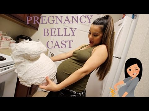 We Made A Pregnancy Belly Cast !