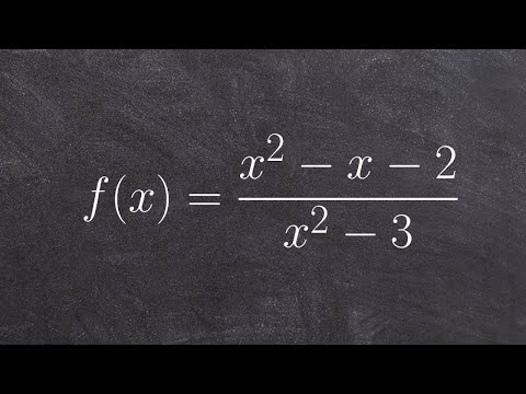 Pre-Calculus - Find x and y intercepts of a rational function, f(x) = (x^2 - x - 2)/(x - 3)