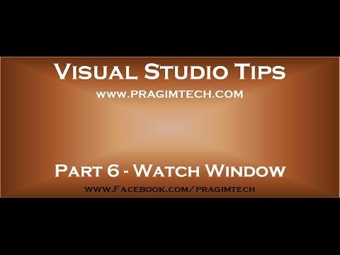 Part 6   Watch window in visual studio