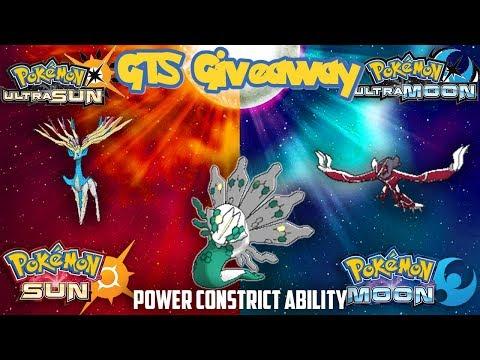 Pokémon SUN & MOON/ULTRA GTS GIVEAWAY      XYZ LEGENDS   POWER CONSTRUCT ZYGARDE 100%