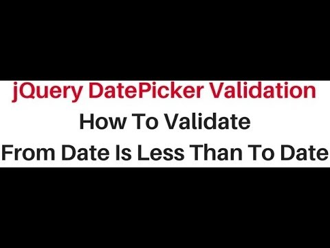 Datepicker jQuery UI validation (From,To) onSelect script input Date