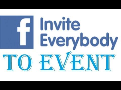 Invite all friends to facebook event
