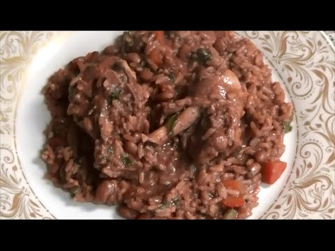 Trinidad Chicken Pelau [ made with pink beans ] - Episode 23