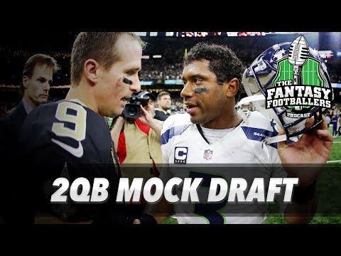 Fantasy Football 2017 - Live MOCK Draft Episode + Draft Strategy - Ep. #388