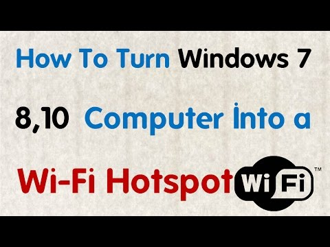 [Hindi] How To Turn Windows 7,8,10 Computer Into a Wi Fi Hotspot || Technical Naresh