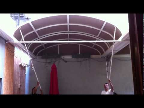 Manual Retractable Roof by LITRA - Patio Cover