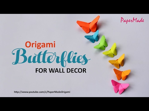 Paper Butterflies For Your Wall Decoration | DIY | Decor | PaperMade