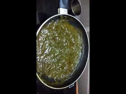 How to make Palak Curry for Chapathi