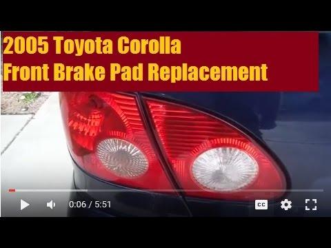 2005 Toyota Corolla Front Brake Pads