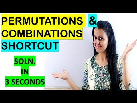 PERMUTATIONS & COMBINATIONS TRICK/SHORTCUT NDA/CETs/JEE/BITSAT/COMEDK/COMPETITIVE EXAMS