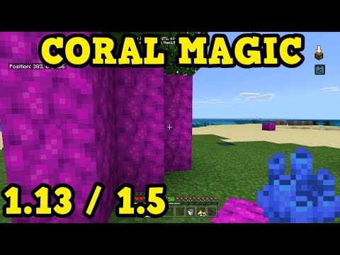Minecraft Xbox / PE - How To Get Coral Blocks Above Water