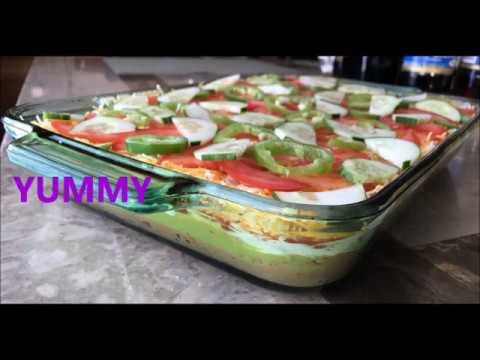7 LAYER DIP RECIPE | VERY EASY AND TASTY