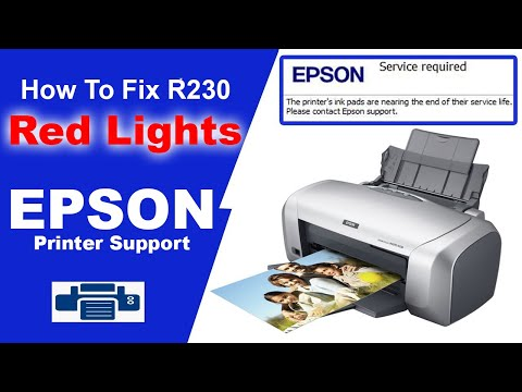 Epson Stylus Photo R230/R230x (2 red indicator   blinking) problem and Solve with software