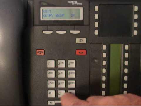 Nortel Phone - Change Display Name