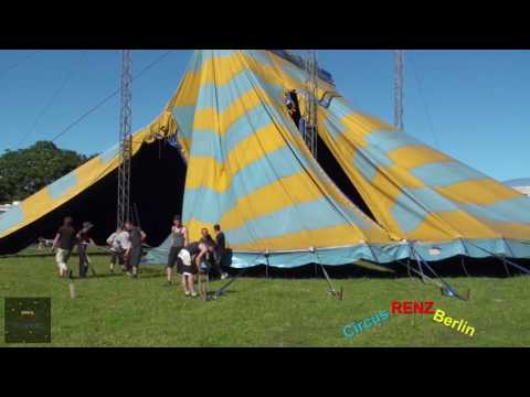 Circus RENZ Berlin - Transport & Build Up - Aufbau - Installation