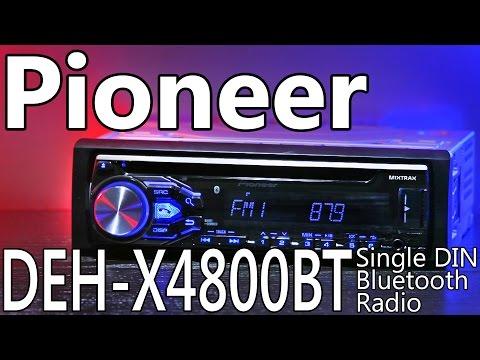 Pioneer DEH-X4800BT Single DIN Bluetooth Radio