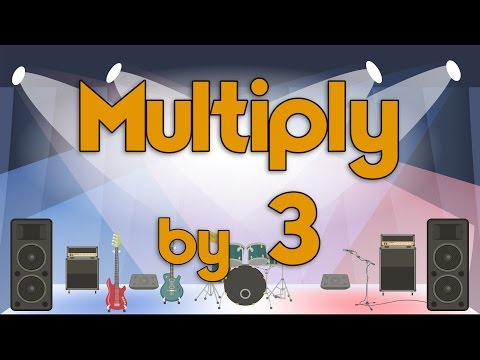 Multiply by 3 | Learn Multiplication | Multiply By Music | Jack Hartmann