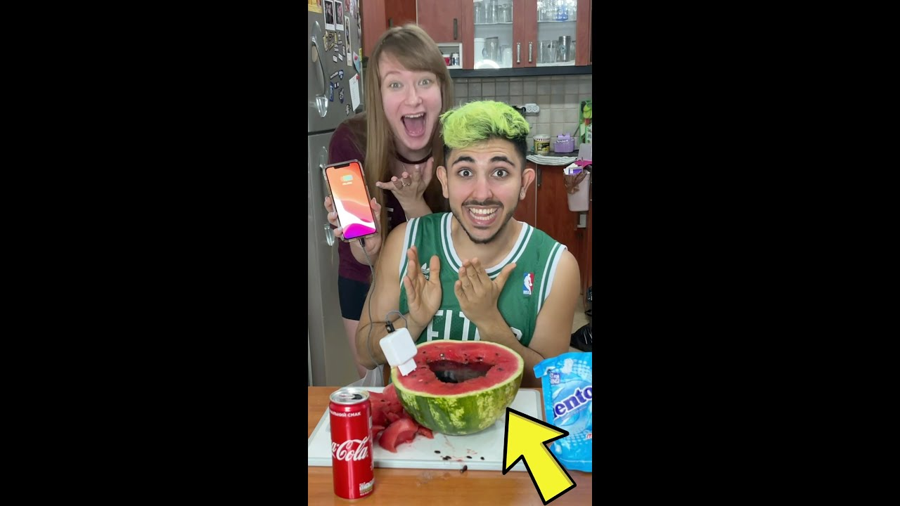 OMG! DID you know?! WATERMELON CHARGER LIFEHACK?! #shorts