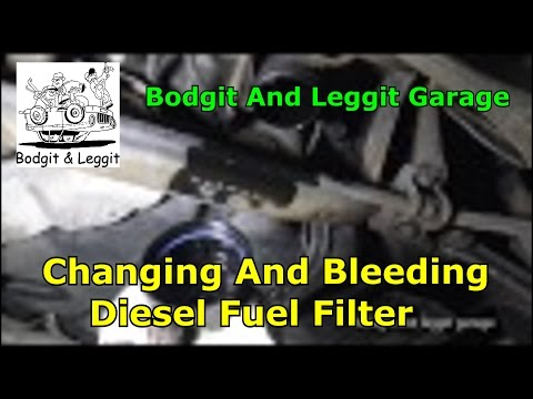 Changing And Bleeding Fuel Filter(ford mondeo MK4) Bodgit And Leggit Garage