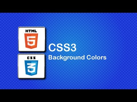 HTML5 and CSS3 Beginner Tutorial 14 - Change the background and Hexidecimal Colors