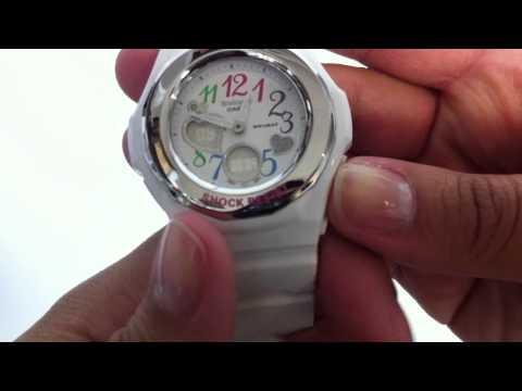 Women's White Baby-G Analog Digital Watch BGA101-7B