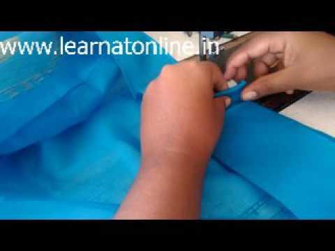 How To Stitch Saree Fall ?