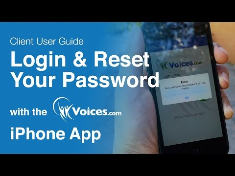 How to Login and Reset Your Password with the Voices.com iPhone App