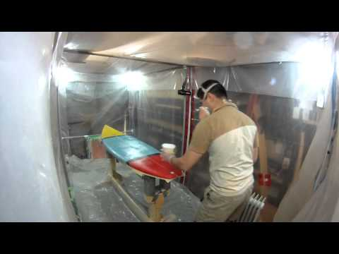 How to Build a Shortboard Surfboard - 25 - Mixing Resin