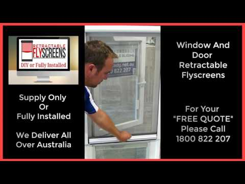 Retractable Fly Screens For Windows and Doors Perth, Melbourne, Adelaide, Sydney Call 1800 822 207
