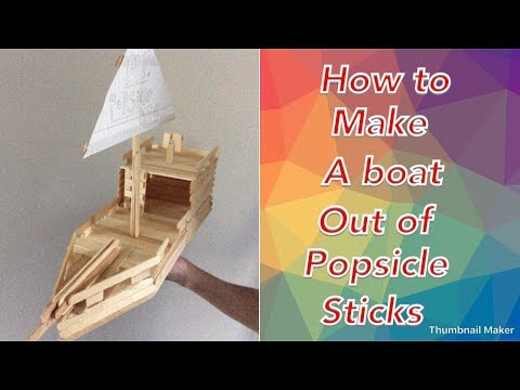 How to make a popsicle a stick boat