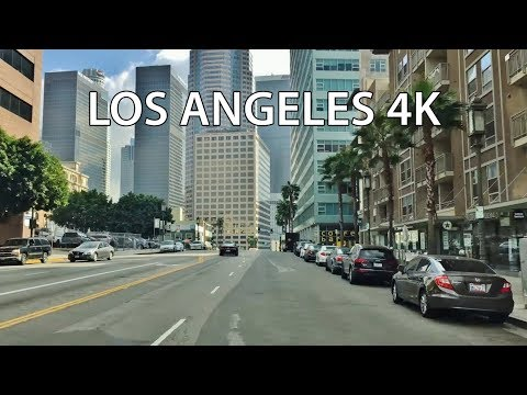Driving Downtown - LA's Skyscrapers 4K - Los Angeles USA