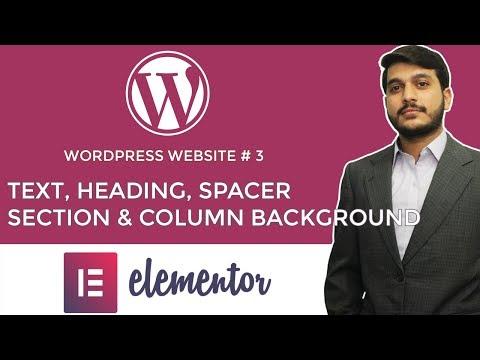 Heading, Text & Spacer Element in Elementor Wordpress Urdu Hindi - WP # 18