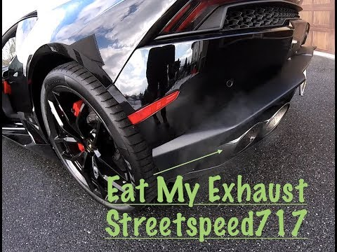 Lamborghini exhaust and speed test on snow day