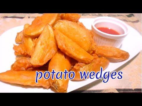 potato wedges  How to make crispy potato wedges 