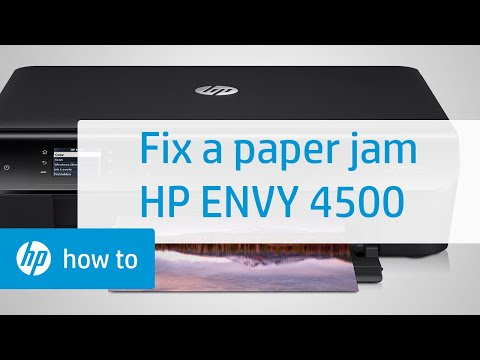 Fixing a Paper Jam - HP Envy 4500 e-All-in-One Printer