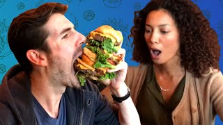 Friends Try Eating One Of The Biggest Burgers In New York